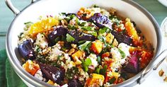 This delicious quinoa salad with beetroot, pumpkin & Persian feta is packed full of healthy goodness.