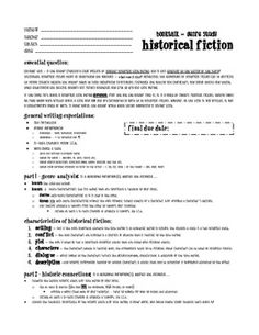 Week 2 Historical Fiction This Would Be A Good Handout To Give The
