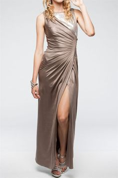 -+Body-con+Fit+ -+Wrap+Style+Front -+Contrast+Detail -+High+Front+Slit -+Sleeveless+ -+Front+Pleating+ -+Slight+Stretch+ -+Fits+True+To+Size+  Check+out+our+Sizing+Chart+for+sizing+questions+