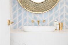 Three Birds Renovations - Bonnie's Dream Home, Powder Room, Tile Inspo