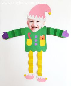 DIY Elf Kids Craft at artsyfartsymama.com #kids #Christmas #elf