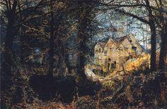 Autumn Glory:  The Old Mill, 1869  John Atkinson Grimshaw - WikiPaintings.org