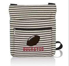 Twill Stripe Football (brown) BUCKEYE$ (All Caps in red)