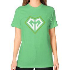 Di3seL Love Shirt Unisex T-Shirt (on woman)