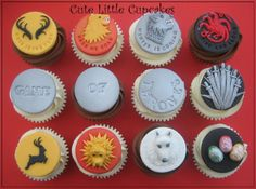 Game of Thrones Cupcakes - by HeidiS @ CakesDecor.com - cake decorating website