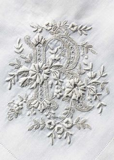 A Lesson In Whitework Embroidery The key to white work embroidery is to know the right preparations and techniques. Learn how to master these tips on our website. Ribon Embroidery, Hand Work Embroidery, Embroidery On Clothes, Embroidery Monogram, Types Of Embroidery, Hand Embroidery Designs, Embroidery Stitches, Embroidery Patterns, Machine Embroidery