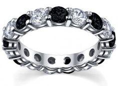 Unique Black Diamond Wedding Rings   Diamond Eternity Bands: Unique Wedding Bands for Her » deBebians Fine ...