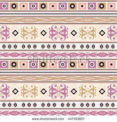 seamless ethnic pattern texture turquoise, beige,lilac, light brown, peach for…