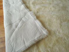 Genuine Sheepskin Rug Square Rectangular Natural by MILABERT