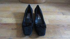 Vintage 1980s Salvatore Ferragamo Shoes   Black by GildedGypsies