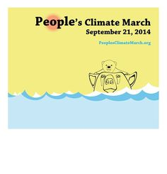 "Polar bear and cub. People's Climate March design by Serhat KARAKAS. ""Climate change is utmost important issue that people around the world should pay their full attention on it, because of the results which might destroy the whole environment that supplies essential needs for human being. This is not just a beginning, this is a sign of the ending coming menacingly."" #PeoplesClimate"