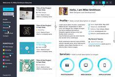 Tiny - Online Professional Resume PSD  #design #webdesign #template #web #graphic #psd #photoshop #website #resume #cv #profile #designer #portfolio