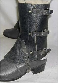Leather gaiters, trying to find out if I can make these, cause I need them for my costume I'm working on.