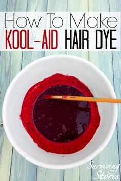 How To Dye Hair With Kool-Aid! - #hair #diyhair #diyhaircolor #haircolor #diybeauty