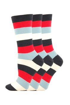 Ladies 3 Pair Pack of Help for Heroes Dress Socks - http://www.socksupermarket.com/shop-by-brands/help-for-heroes/ladies-3pp-stripes-dress-socks.html
