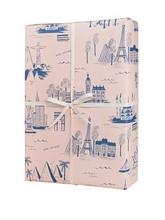 City Toile Paris wrapping paper by Rifle Paper