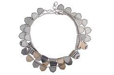 "Lisa Jenks' sterling silver and 14-karat gold ""Valkyrie"" necklace ($8,700)"