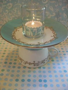 upcycle china | sweet tea & candle light - vintage upcycled china teacup and saucer ...