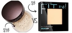Fit Chick's Simple Swaps: Drugstore Makeup Dupes - Maybelline Fit Me Matte + Poreless Powder at $8.00