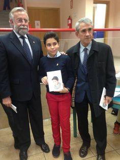 Junto al alcalde Talavera de la Reina y el de de Velada en la presentación de su libro Ser inteligente no es un delito.
