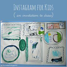 Faccio e Disfo: Instagram for kids - disegnare nelle cornici