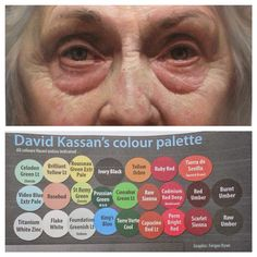 WEBSTA @ davidkassan - The color palette for my painting of Jaece and how i arrange them on the Palette. store.davidkassan.com