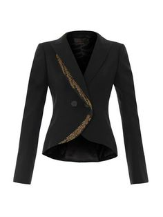 Tailored embroidered fishtail jacket | L'Wren Scott | MATCHESF...