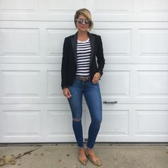 < stripes // leo > #ootd sticking with some oh-so-fave classics…