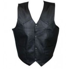 Safari V-neck Leather Vest
