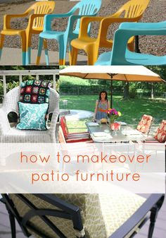 Goodwill Tips: Easy Tips For Making Over Patio Furniture   Those Plastic  Chairs Look So