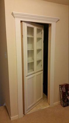 Ideas Secret Door Bookshelf Hidden Rooms Stairs - Image 21 of 24 Secret Door Bookshelf, Bookcase Door, Bookcases, Attic Storage, Hidden Storage, Storage Stairs, Attic Organization, Secret Storage, Closet Storage