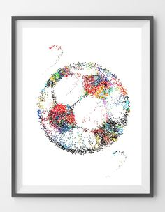 Soccer Ball watercolor print by MimiPrints