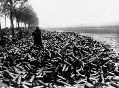 Grenade shells from a world war one artillery barrage, 1917