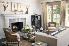Living room fireplace - traditional - living room - los angeles - Dayna Katlin Interiors