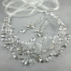 Wedding Jewelry Set. Earrings and Hair от byPiLLowDesign на Etsy