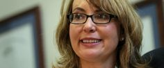 GIFFORDS  That a girl! She like me owns a gun but we both want universal background checks, not just in gun stores. First name: Gabby