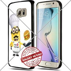 (Available for iPhone 4,4s,5,5c,5s,6,6Plus and Samsung S5,S6,S6Edge,S6EdgesPlus,Note4,5) Minion Kiss the Cook Cool Smartphone Case Covers Collector iphone TPU Rubber Case Black ILHAN http://www.amazon.com/dp/B018JPRAZK/ref=cm_sw_r_pi_dp_oviNwb18TVED1