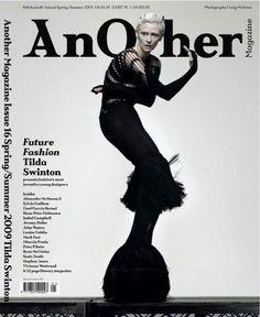 Tilda Swinton Another Magazine ss09 black cover