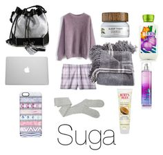 """""""Sleepover with Suga"""" by bts-outfit-imagines on Polyvore featuring Chicwish, Target, Carianne Moore, Casetify, Burt's Bees, women's clothing, women, female, woman and misses"""