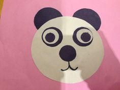 A cute panda bear collage/drawing made by Victoria-Grace, 2 years old, Artist Of The Day on 03/15/2013 • Art My Kid Made #kidart #panda