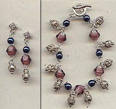 IDEA: Blueberry Bali Drop Bracelet (eebeads.com)