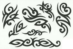 Tribal Heart Tattoos, Tribal Armband Tattoo, Celtic Tribal, Tribal Symbols, Cool Stencils, Tattoo Stencils, Adult Face Painting, Airbrush Tattoo, Summer Tattoo