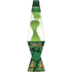 Teenage Mutant Ninja Turtles Lava Lamp, Green Wax/Clear Liquid/Decal Base