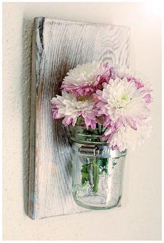 Mason Jar Wall Sconce / Vase by BrandNewToMe on Etsy