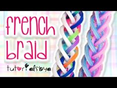 NEW French Braid Rainbow Loom Monster Tail Bracelet Tutorial | How To - YouTube