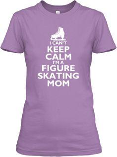 I'm a Figure Skating Mom - Lavender   Teespring