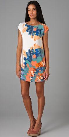 Tibi Painted Blossom Dress