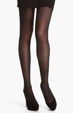 Dotted Tights // i'm trying to find some to add to my Christmas outfit