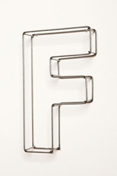 "wire metal letter for gallery wall: $10  {6.5""X6""}"