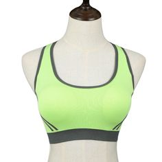Stretch Athletic Sports Bras Seamless Cross Back Padded For Gym Running Fitness Tank Tops